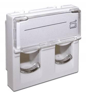 Вставка Lanmaster LAN-SIP-24L-WH Keystone белый (упак.:1шт)
