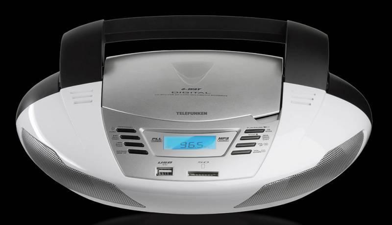 Магнитола Telefunken TF-CSRP3480 белый - фото 1