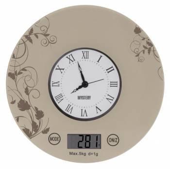 Кухонные весы Mystery MES-1818 бежевый