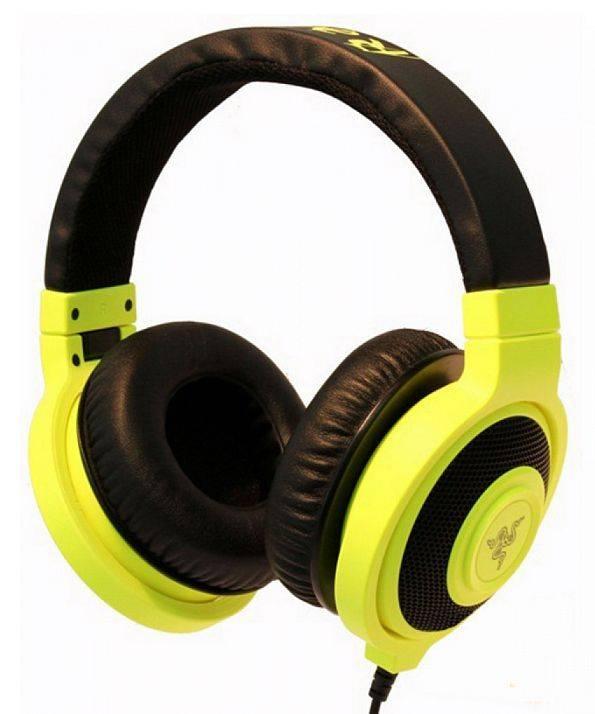Наушники с микрофоном Razer Kraken Pro Neon желтый - фото 1