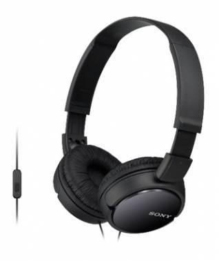 Гарнитура Sony MDR-ZX110AP черный (MDRZX110APB.CE7)