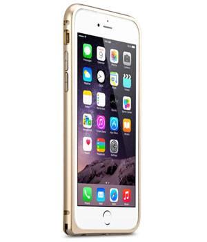 Чехол Melkco Q Arc Aluminum, для Apple iPhone 6, золотистый (APIP6FALQAGDME) - фото 1