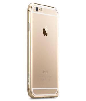 Чехол Melkco Q Arc Aluminum, для Apple iPhone 6, золотистый (APIP6FALQAGDME) - фото 2