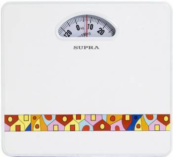 Весы напольные механические Supra BSS-4061 белый / рисунок