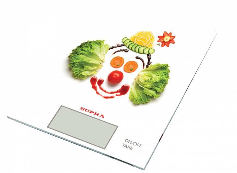 Кухонные весы Supra BSS-4200 белый/клоун - фото 1