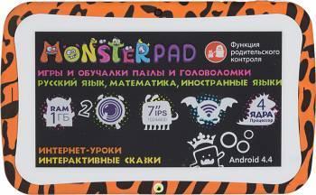 """Планшет 7"""" Turbo MonsterPad 8 оранжевый/черный"""