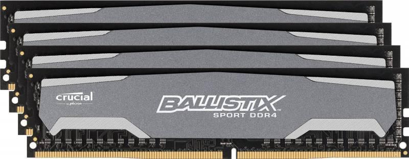 Модуль памяти DIMM DDR4 4x4Gb Crucial BLS4C4G4D240FSA - фото 1