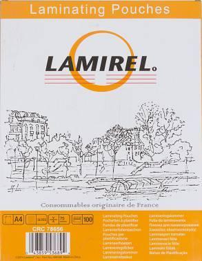 Пленка для ламинирования Fellowes Lamirel A4 75мкм (100шт) (LA-78656)