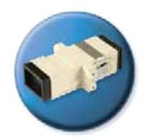Адаптер проходной Brand-Rex BHCSCMM001 SC симплекс для волокна 50 / 125 с металлической вставкой