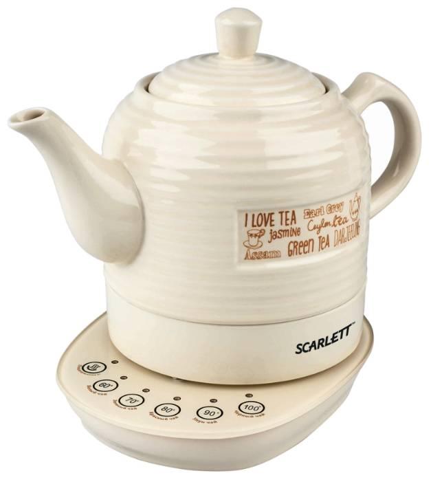 Чайник электрический Scarlett SC-EK24C02 бежевый - фото 1