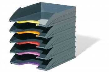 Лоток горизонтальный Durable 7705-57 Varicolor A4 ассорти / серый пластик (упак.:5шт)