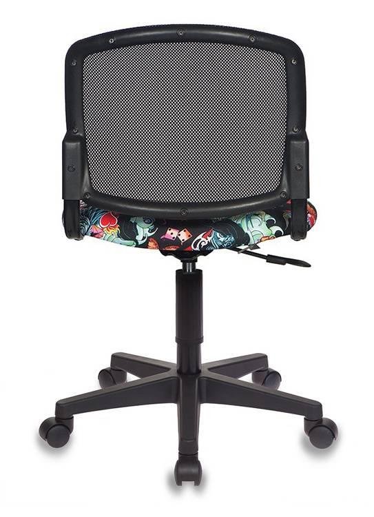 Кресло детское Бюрократ CH-296NX черный/черный (CH-296NX/TATTOO) - фото 4