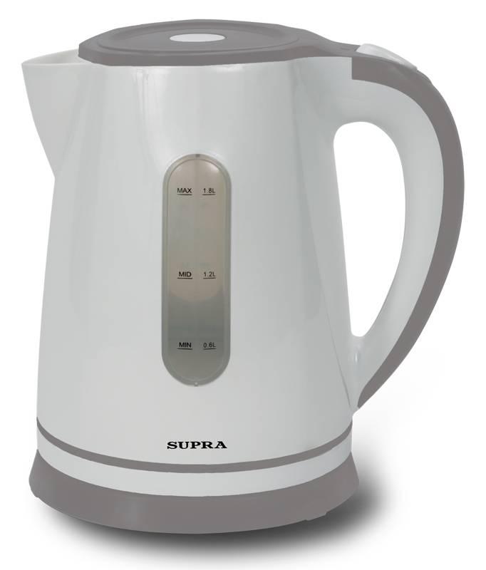 Чайник электрический Supra KES-1822 белый/серый - фото 1