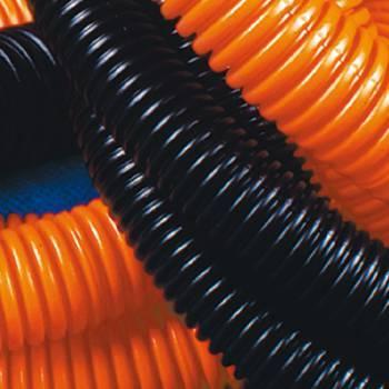 Труба гофр. тяж. DKC (71525) внеш.D=25мм с протяжкой 50м оранж.
