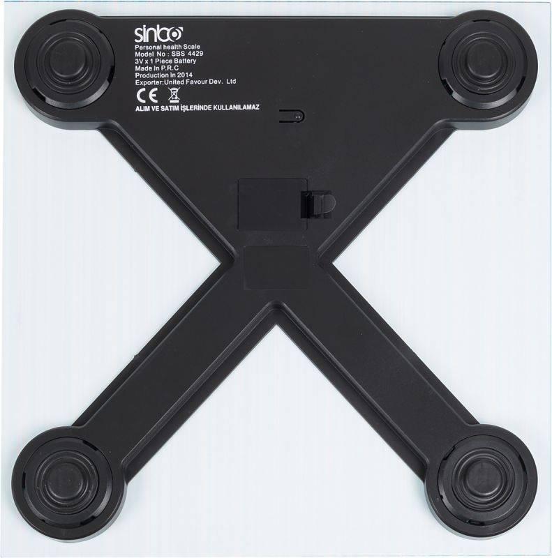 Весы напольные электронные Sinbo SBS 4429 синий - фото 3
