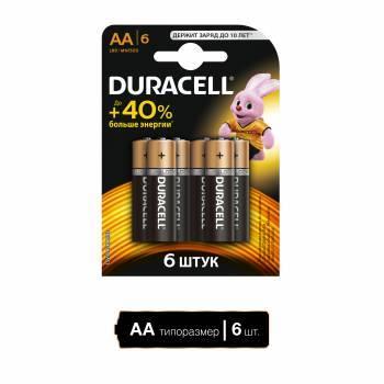 Батарея AA Duracell Basic LR6-6BL (6шт)