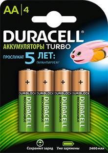 Аккумулятор AA Duracell HR6-4BL (4шт)