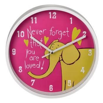 Настенные часы Hama Elephant H-123171 аналоговые розовый