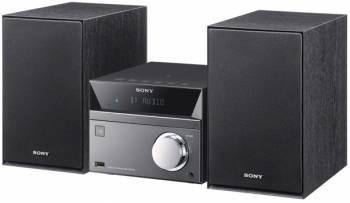 Микросистема Sony CMT-SBT40D черный/серебристый (CMTSBT40D.RU1)