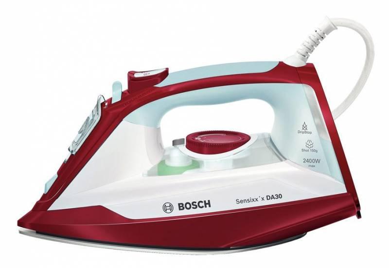 Утюг Bosch TDA3024010 белый/красный - фото 1