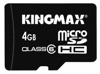 Флеш карта microSDHC 4Gb class6 Kingmax