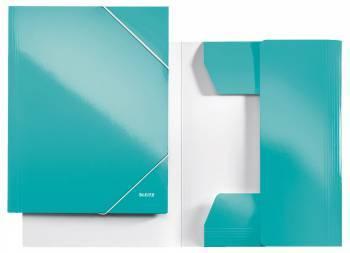 Папка с 3-мя клапанами Leitz WOW / ламинированный картон бирюзовый (39820051)