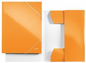 Папка с 3-мя клапанами Leitz WOW / ламинированный картон оранжевый (39820044)