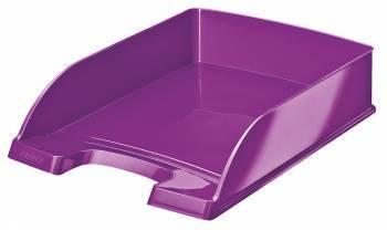 Лоток горизонтальный Esselte Leitz WOW фиолетовый металлик (52263062)
