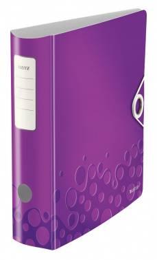 Папка-регистратор Leitz WOW 11060062 полифом фиолетовый