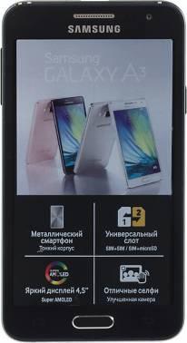 Смартфон Samsung Galaxy A3 SM-A300F 16ГБ черный (SM-A300FZKDSER)