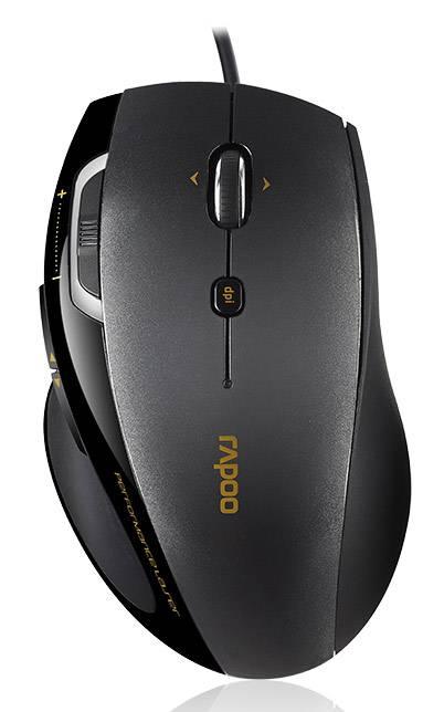 Мышь Rapoo 6200 черный - фото 1