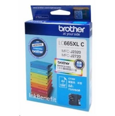 Картридж струйный Brother LC665XLC голубой - фото 1