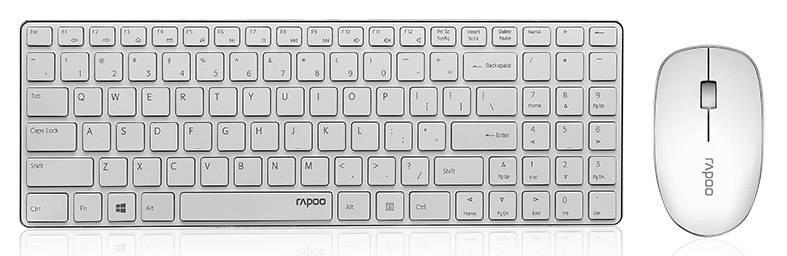 Комплект клавиатура+мышь Rapoo 9300P белый/белый - фото 1