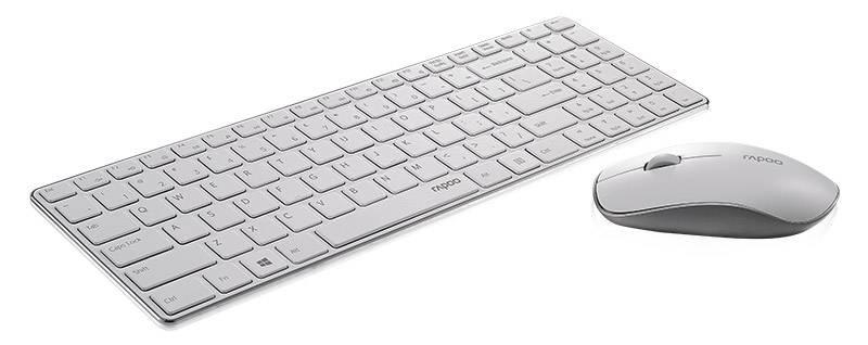 Комплект клавиатура+мышь Rapoo 9300P белый/белый - фото 2
