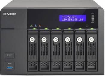 Сетевое хранилище NAS Qnap TS-653 Pro черный