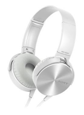 Гарнитура Sony MDR-XB450AP белый - фото 1