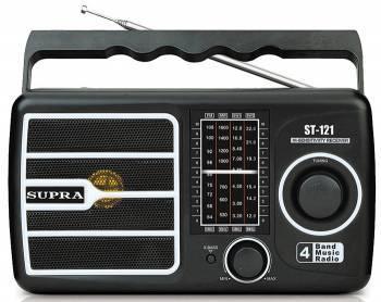 Радиоприёмник Supra ST-121 черный
