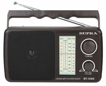 Радиоприёмник Supra ST-124U черный