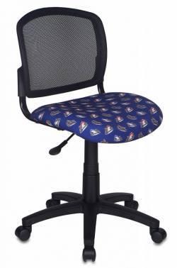 Кресло детское Бюрократ CH-296NX / MOTO_BL темно-синий