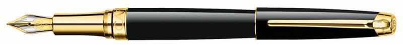 Ручка перьевая Carandache Leman Ebony black lacquered GP (4799.272) - фото 1