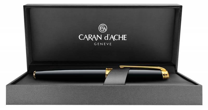 Ручка перьевая Carandache Leman Ebony black lacquered GP (4799.272) - фото 3