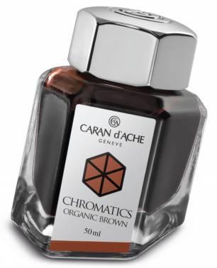 Флакон с чернилами Carandache Chromatics Organic brown чернила 50мл (8011.049)
