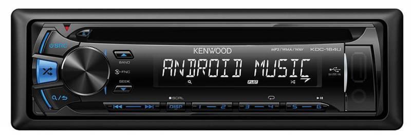 Автомагнитола Kenwood KDC-164UB  1 din 4x50Вт FM/MW/LW - фото 1