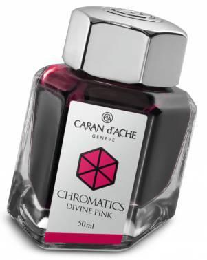 Флакон с чернилами Carandache Chromatics Divine pink чернила 50мл (8011.080)