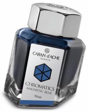 Флакон с чернилами Carandache Chromatics Magnetic blue чернила 50мл (8011.149)