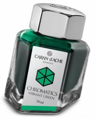 Флакон с чернилами Carandache Chromatics Vibrant green чернила 50мл (8011.210)