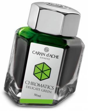 Флакон с чернилами Carandache Chromatics Delicate green чернила 50мл (8011.221)