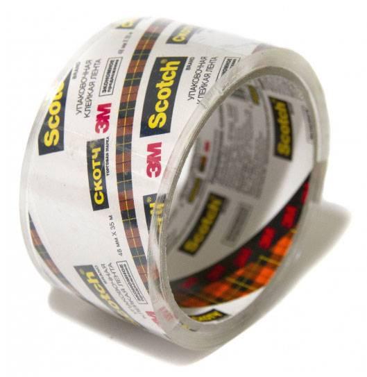Клейкая лента 3M N2J Scotch упаковочная/кристально-прозрачная/Эконом 48мм х 35м 40мкм - фото 1