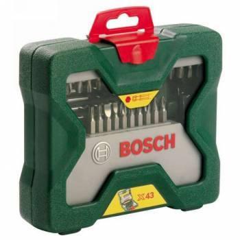 Набор бит и сверл Bosch X-line 43 (43пред.) для шуруповертов/дрелей (2607019613)