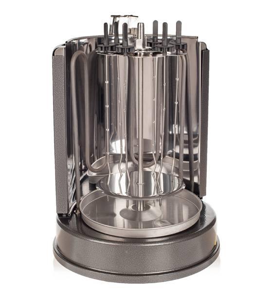 Шашлычница электрическая Kitfort KT-1404 серебристый - фото 2